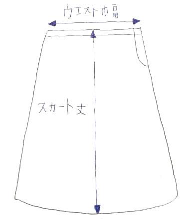 実寸スカート